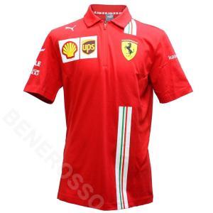 PUMA スクーデリア フェラーリ チーム ポロシャツ 2021 レッド 763032-02|victorylap
