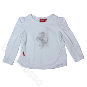 【アウトレット】フェラーリ ベビー プランシングホース LS Tシャツ 18か月 ホワイト|victorylap