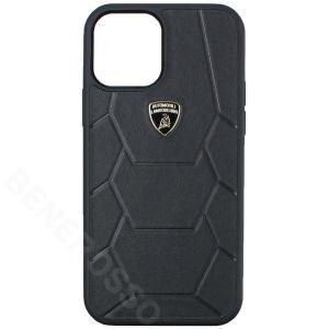 ランボルギーニ iPhone12/12Pro レザーバックカバー アヴェンタドール D7 ブラック LB-TPUPCIP12P-AV/D7-BK|victorylap