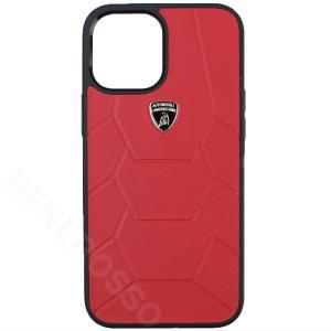 ランボルギーニ iPhone12 Pro Max レザーバックカバー アヴェンタドール D7 レッド LB-TPUPCIP12PM-AV/D7-RD victorylap
