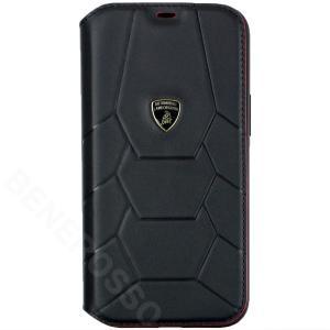 ランボルギーニ iPhone12 Pro Max レザーブックタイプケース アヴェンタドール D7 ブラック LB-TPUFCIP12PM-AV/D7-BK victorylap