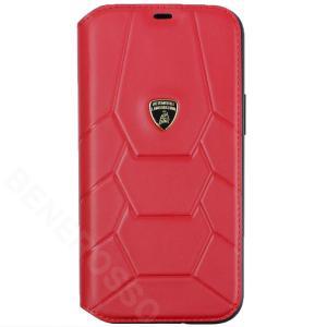 ランボルギーニ iPhone12 Pro Max レザーブックタイプケース アヴェンタドール D7 レッド LB-TPUFCIP12PM-AV/D7-RD victorylap