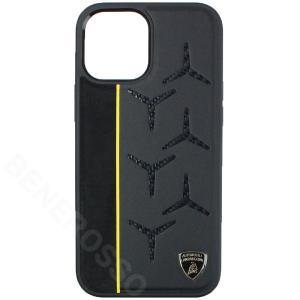 ランボルギーニ iPhone12 Pro Max レザー/アルカンターラ&カーボン バックカバー アヴェンタドール D12 イエロー LB-TPUPCIP12PM-AV/D12-YW victorylap