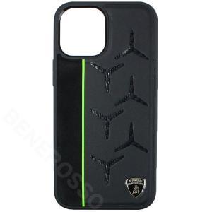 ランボルギーニ iPhone12 Pro Max レザー/アルカンターラ&カーボン バックカバー アヴェンタドール D12 グリーン LB-TPUPCIP12PM-AV/D12-GN victorylap