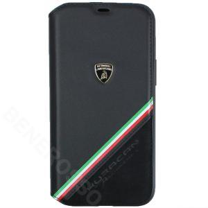 ランボルギーニ iPhone12 Pro Max レザー&アルカンターラ ブックタイプ ウラカン D11 ブラック LB-TPUFCIP12PM-HU/D11-BK victorylap