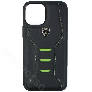ランボルギーニ iPhone12 Pro Max レザー バックカバー ウラカン D16 グリーン LB-TPUPCIP12PM-HU/D16-GN victorylap