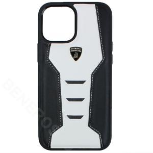 ランボルギーニ iPhone12 Pro Max レザー バックカバー ウラカン D16 ホワイト LB-TPUPCIP12PM-HU/D16-WE victorylap