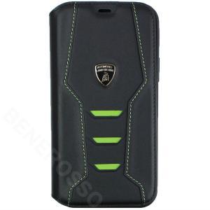 ランボルギーニ iPhone12/12 Pro レザー ブックタイプケース ウラカン D16 グリーン LB-TPUFCIP12P-HU/D16-GN|victorylap