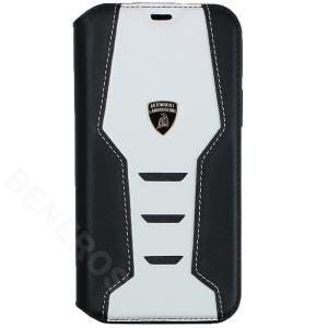 ランボルギーニ iPhone12/12 Pro レザー ブックタイプケース ウラカン D16 ホワイト LB-TPUFCIP12P-HU/D16-WE|victorylap