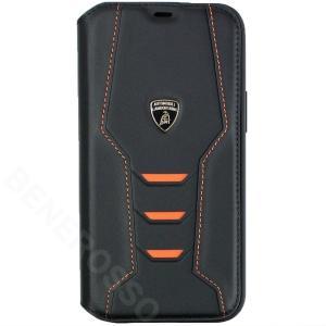 ランボルギーニ iPhone12 Pro Max レザー ブックタイプケース ウラカン D16 オレンジ LB-TPUFCIP12PM-HU/D16-OE|victorylap