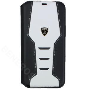ランボルギーニ iPhone12 Pro Max レザー ブックタイプケース ウラカン D16 ホワイト LB-TPUFCIP12PM-HU/D16|victorylap