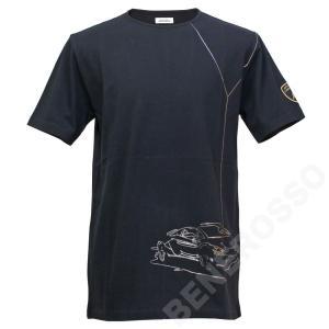 ランボルギーニ メンズ アウトライン Tシャツ ブラック 9012272CCB072|victorylap