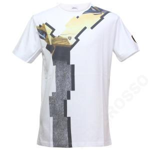 ランボルギーニ メンズ ゴールデン ランボ Tシャツ ホワイト 9012276CCW086|victorylap