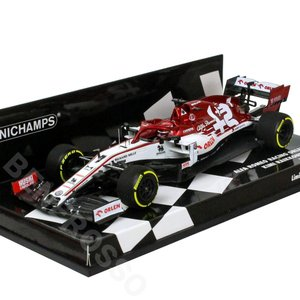 MINICHAMPS 1/43スケール アルファロメオ レーシング オーレン C39 K.ライコネン 2020 LAUNCH SPEC 417200007 victorylap
