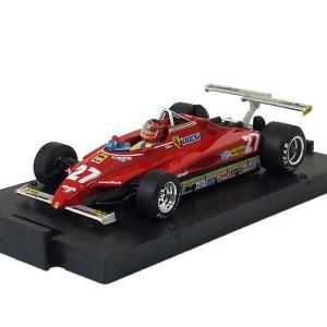 brumm 1/43スケール フェラーリ 126C2 #27 G.ヴィルヌーヴ 1982 ロングビーチGP