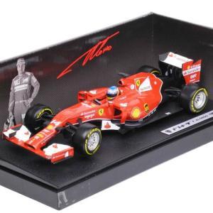 マテル 1/18スケール フェラーリ F1 2014 F14T #14 F.アロンソ ドライバー付 MT BLY67|victorylap