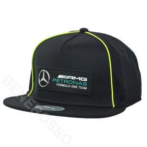 PUMA メルセデス AMG ペトロナス F1チーム フラット ブリム キャップ ブラック 2021 023498-01|victorylap
