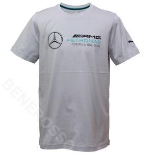 PUMA メルセデス AMG ペトロナス F1 チーム MAP ロゴ Tシャツ 2021 シルバー 530722-02 victorylap