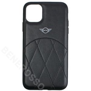MINI iPhone11 PUレザー クロスラインステッチ ハードケース ブラック MIHCN61LECRBK victorylap