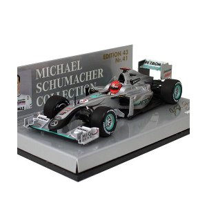 MINICHAMPS 1/43スケール メルセデスGP ショーカー M.シューマッハ 2010 410100073 victorylap