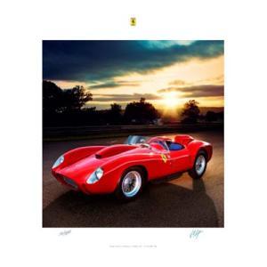 フェラーリ オフィシャル ポスター 250 Testa Rossa (1958年 ル・マン優勝) victorylap
