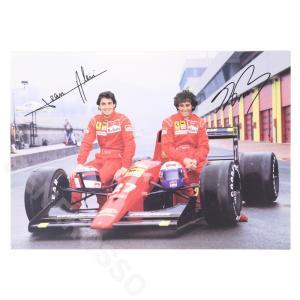 フェラーリ 1991 オリジナル ドライバー カード プロスト / アレジ  (返品・交換対象外) victorylap