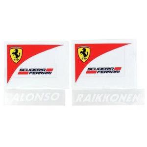 フェラーリ 2014 ヘッドレストサイド用 車体ステッカー アロンソ・ライコネンセット  (返品・交換対象外)|victorylap