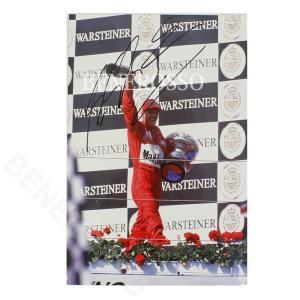 フェラーリ 1999 サンマリノGP クローム フォト M.シューマッハ 直筆サイン  (返品・交換対象外) victorylap