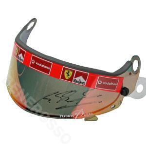 メモラビリア フェラーリ 2002 オリジナルバイザー レッドミラータイプ ユーズド シューマッハ サイン入り  (返品・交換対象外) victorylap