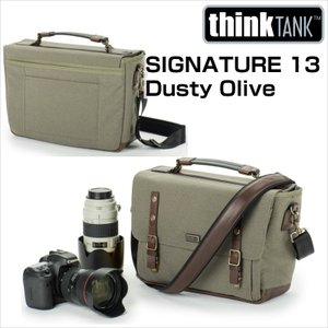 thinkTANKphoto シンクタンクフォト カメラバッグ シグネチャー 13 ダスティーオリーブ|videoallcam