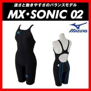 ★送料無料★MIZUNO ミズノ MX・SONIC02 (N2MG621191) レディス ハーフスーツ 【FINA承認】 viento