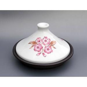 ●商品名 有田焼 タジン鍋 サクラ柄 ●商品サイズ/皿:約径20.5×高3.5cm、ふた:約径18....