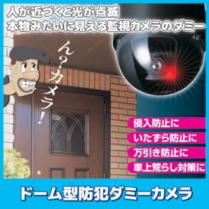 ●商品名 ドーム型防犯ダミーカメラ ●サイズ/約直径8.8×7.9cm ●材質/本体:ABS樹脂  ...