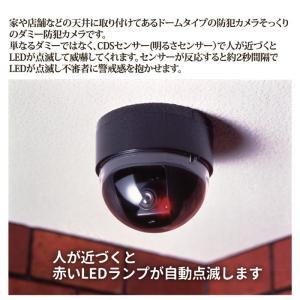 ドーム型防犯ダミーカメラ 防犯カメラ 家庭用 LED 不審者 空き巣 侵入者 車上荒らし|vieshop|02