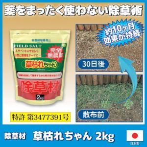 除草材 草枯れちゃん 2kg 無農薬 安全 除草剤 雑草 雑草駆除 弱酸性 農耕地|vieshop
