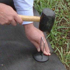DuPontデュポン ザバーン 防草シート専用アンカーピンセット グリーン (防草ワッシャー、コ型ピン、各10個セット) 雑草防止シート