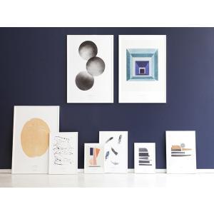 スティルレーベン STILLEBEN A4ポスター 210×297mm Pieces ピース  メール便対応 Atelier Cph   モノクロ 白黒 デンマーク 北欧 viewgarden 02