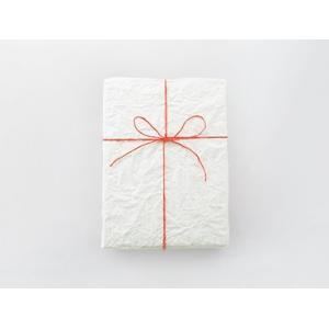 【10%OFFクーポン先着順11/30-12/18】ラッピング シワ加工のある白無地紙に麻ひも