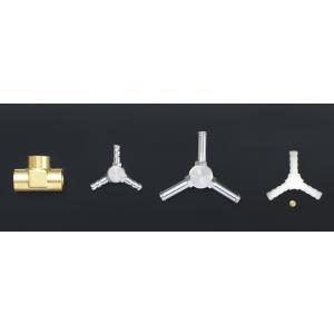 【TRUST/トラスト】スリーウェイジョイント 5φ 形状2 5-5-5φ(Y型) 真鍮製Crメッキ [11900715]|vigoras