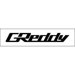 【TRUST/トラスト】GReddy グレッディステッカー(抜き文字) S 210×30 ブラック GSBK [18000080] vigoras