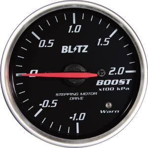 【BLITZ/ブリッツ】 RACING METER SD (レーシングメーターSD) WHITE LED / RED Pointer Model φ60 BOOST METER [19561]|vigoras