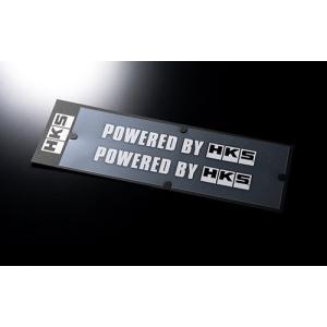 【HKS】 プレミアムグッズ ステッカー HKS Sticker POWERED BY HKS W200 WHITE ホワイト サイズ:200 x 24 2枚入り [51003-AK132]|vigoras