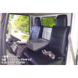 【Azur/アズール】 フロントシートカバー 日産 アトラス F24 H.24/07~ 一体型 助手席・中央席背もたれ分割タイプ [AZ02R10] vigoras