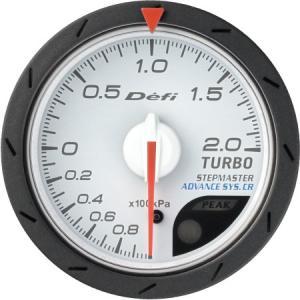 【Defi/デフィ】Defi-Link Meter ADVANCE CR(アドバンスシーアール) ターボ計 200kPaモデル Φ52 白文字盤 [DF07801]|vigoras