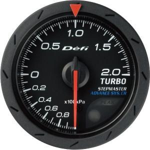 【Defi/デフィ】Defi-Link Meter ADVANCE CR(アドバンスシーアール) ターボ計 200kPaモデル Φ52 黒文字盤 [DF07802]|vigoras