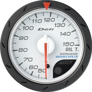 【Defi/デフィ】Defi-Link Meter ADVANCE CR(アドバンスシーアール) 油温計 50℃〜150℃ Φ52 白文字盤 [DF08301]|vigoras