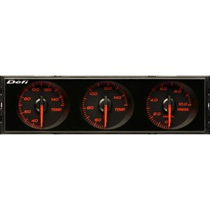 【Defi/デフィ】DIN-Gauge(ディンゲージ) 指針色:赤 目盛り色:アンバーレッド 夜間照明色:アンバーレッド [DF14404]|vigoras