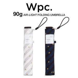 Wpc 折りたたみ傘 超軽量 90g レディース エアライト スター&ストライプ Air-light Umbrella w.p.c ワールドパーティー AL-002|villagestore