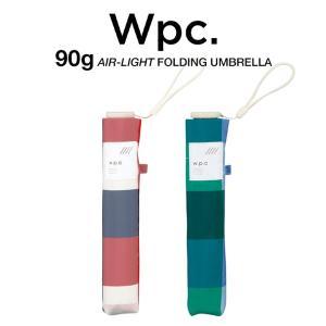 Wpc 折りたたみ傘 超軽量 90g レディース エアライト カラーブロック Air-light Umbrella w.p.c ワールドパーティー AL-010|villagestore