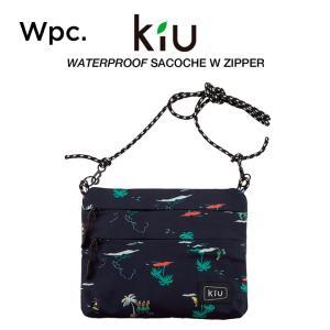 KiU サコッシュ ショルダーバッグ ダブルジッパー 撥水防水 軽量 ウォータープルーフサコッシュ ...